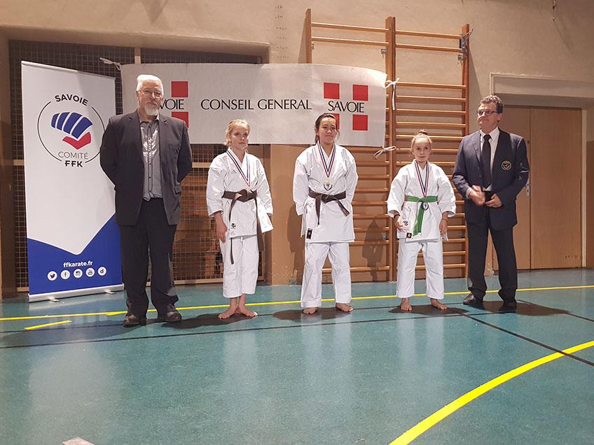 Championnat de Savoie Kata minimes à seniors 2018