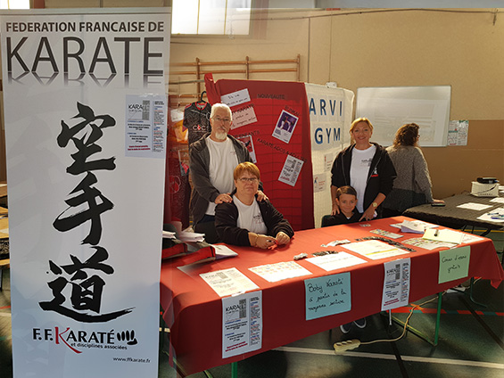 KCVG : Karaté Club du Val Gelon : Démonstration forum des associations 2018