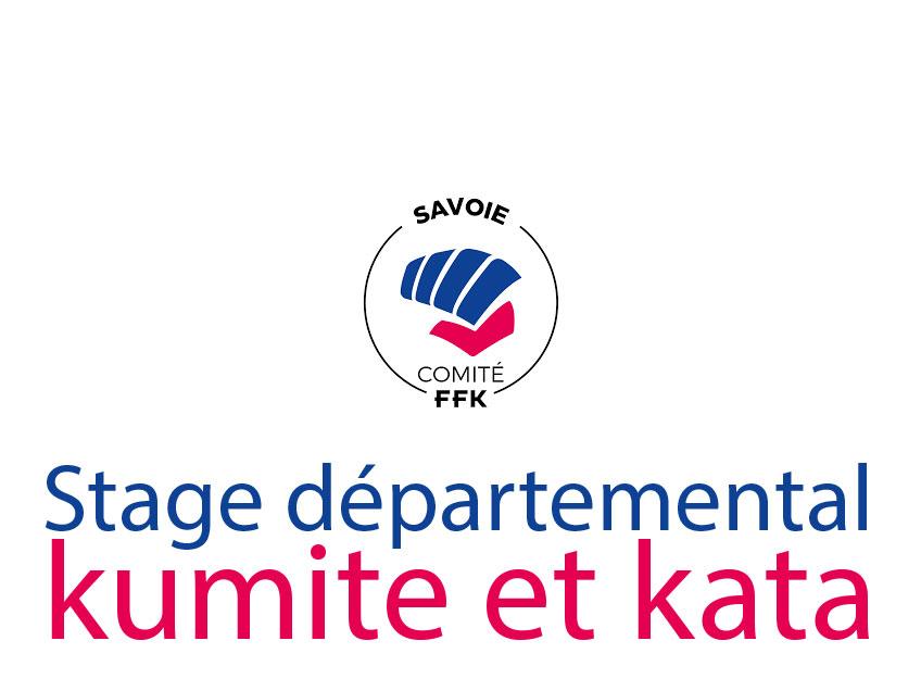 KCVG : Stage départemental CDK Savoie kumite et kata